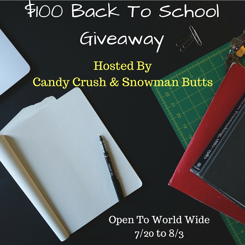 Blogger Opp $100 Back To School Giveaway