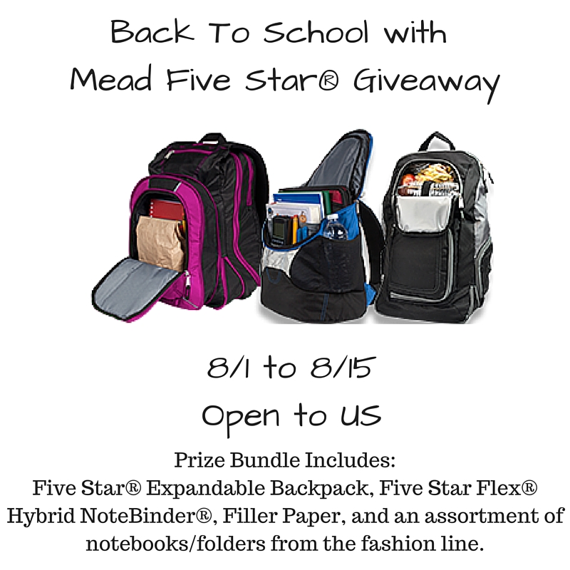 Back To School with Mead Five Star Giveaway – Enter to Win!