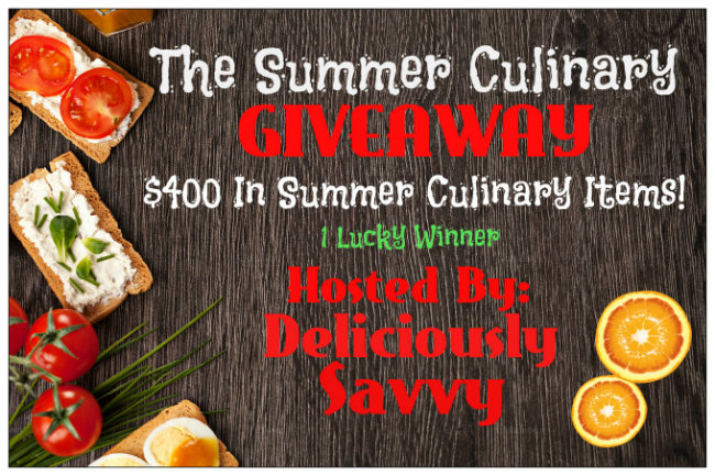 Summer Culinary Giveaway! 1 Lucky Winner (RV$400) ~ Ends 8/22