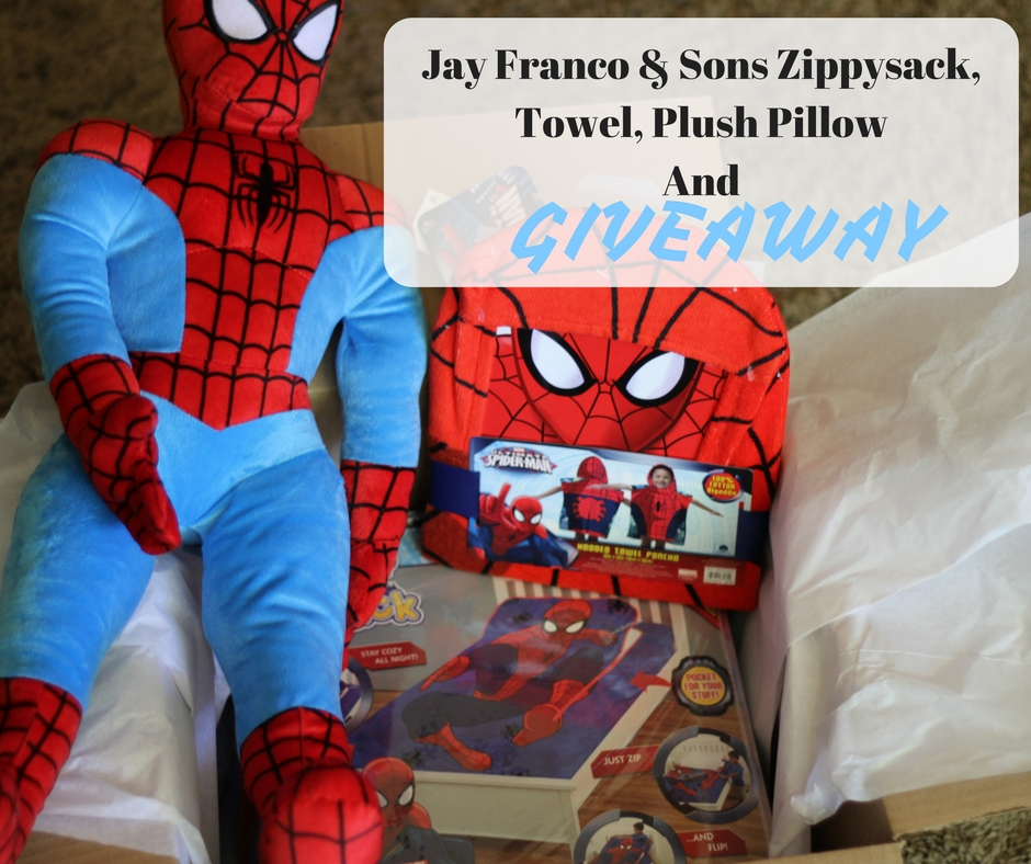 Jay Franco & Sons Zippysack, Towel, Plush Pillow And Giveaway